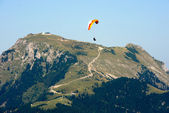 Paragider above the Alps — Stock Photo