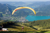 Paragliding in the Alps — Stock Photo