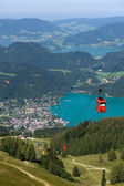Cableway near Wolfgangsee — Stock Photo