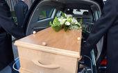 Mourning car — Stock Photo