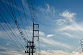High voltage power pole. — Stock Photo