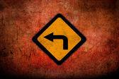 шероховатый дорожного знака глянцевый — Стоковое фото