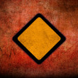 Stock Photo: Grunge empty road sign