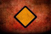 Grunge empty road sign — Stock Photo