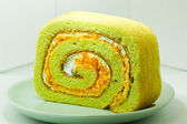 Pandan cake. — Stock Photo