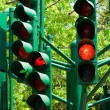 Royalty-Free Stock Photo: Traffic light in all combinations.