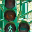 Traffic light in all combinations. — Stock Photo