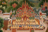 Art in thai temple — Stock Photo