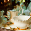 Stock Photo: Antique porcelain tecup