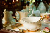 Antique porcelain tea cup — Stock Photo