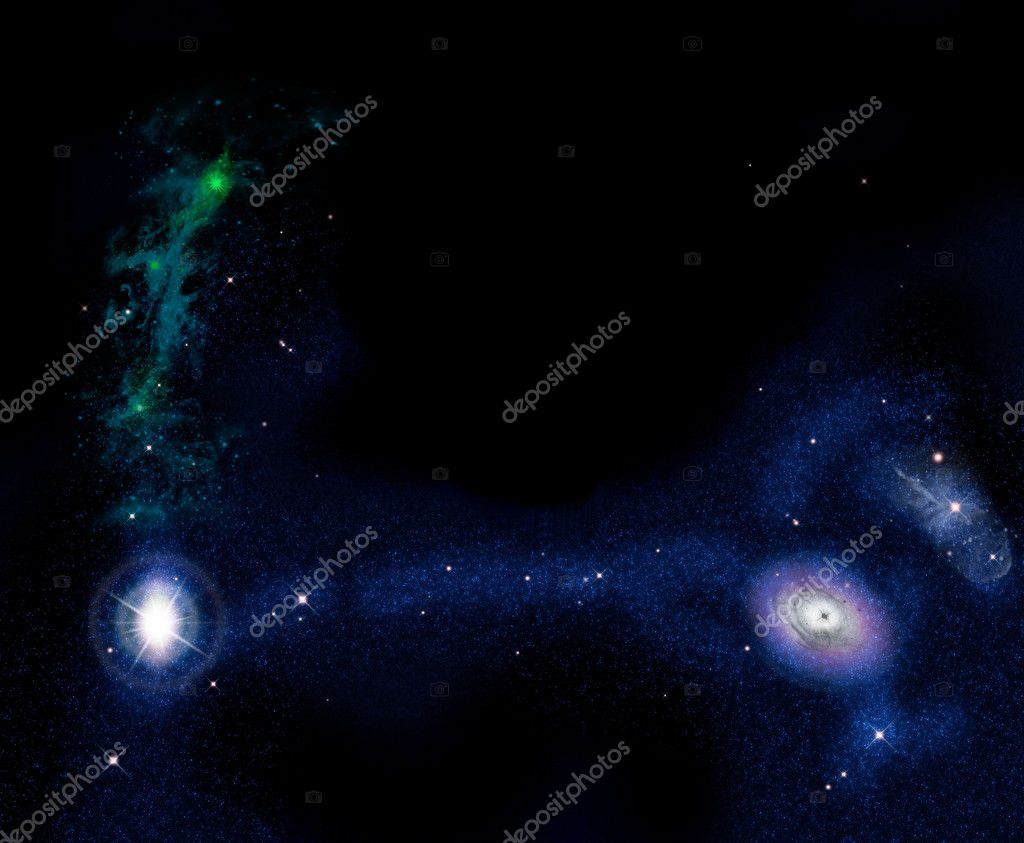Beautiful stars of outerspace in darkness sky  Stock Photo #10018760
