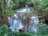 Huay Mae Kamin Waterfall — Stock Photo