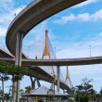 Part of Bhumibol Bridge — Stock Photo #10415238