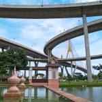 Part of Bhumibol Bridge — Stock Photo #10415296