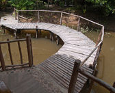 Bamboe brug — Stockfoto
