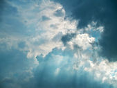 Rays through clouds — Foto de Stock
