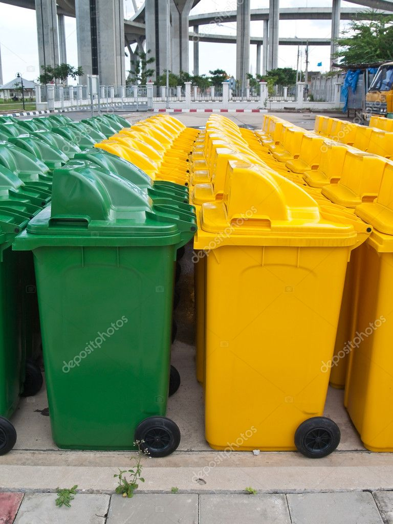 A lot of new usable public bin  Stock Photo #10415594
