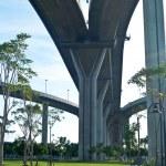 Part of Bhumibol Bridge — Stock Photo #10496123
