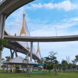 Part of Bhumibol Bridge - Stock Photo
