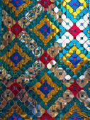 Pillar with glazed tile — Stock Photo