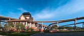 Panorama of Museum of Industrial Ring Road Bridge — Stock Photo