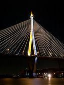 Night scene of Bhumibol Bridge — Stock Photo