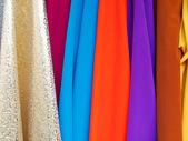 Various colourful fabrics — Stock Photo