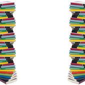 カラフルな実際の書籍のツイスト タワー — ストック写真