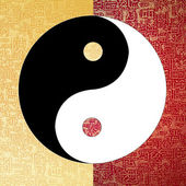 Ying-Yang symbol — Stock Photo