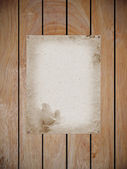 Mulberry paper on wood fragment — Stock Photo