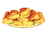 Russian pancakes on a plate — Stock Photo