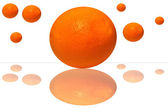 Oranges on a white background — Stock Photo