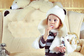 The child in a cap — Stock Photo