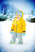 The child on snow — Stock Photo