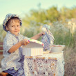 Stock Photo: Picnic of the child