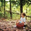 Stock Photo: The boy in the wood