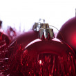 Royalty-Free Stock Photo: Red ribbons and balls in Christmas