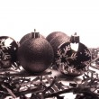 Royalty-Free Stock Photo: Black Christmas  balls
