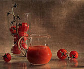 "Still life ""tomato juice"" — Stock Photo"