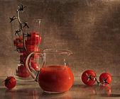 """Still life """"tomato juice"""" — Stock Photo"""
