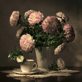 Still Life with Flowers in a Vase — Stock Photo