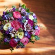 Still life with bouquet of flowers — Stock Photo
