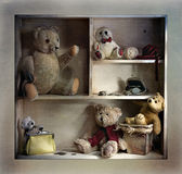 Shelf with a teddy bear — Stock Photo