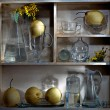 Shelf with pears - Stock Photo