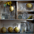 Shelf with pears — Stock Photo