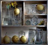 Shelf with pears — Stock Photo