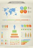 Cool infographic elementen voor het web en print gebruik — Stockvector