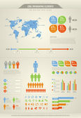 Cool infographic elements for the web and print usage — Vector de stock