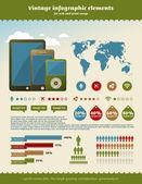 Vintage infographics element — Stock Vector