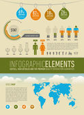 Modern infographic elements — Stock Vector